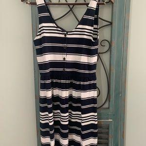 Adorable navy stripe sun dress